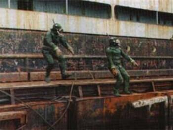 Боевые пловцы. Удержание глубины и смена уровней при ведении подводного боя
